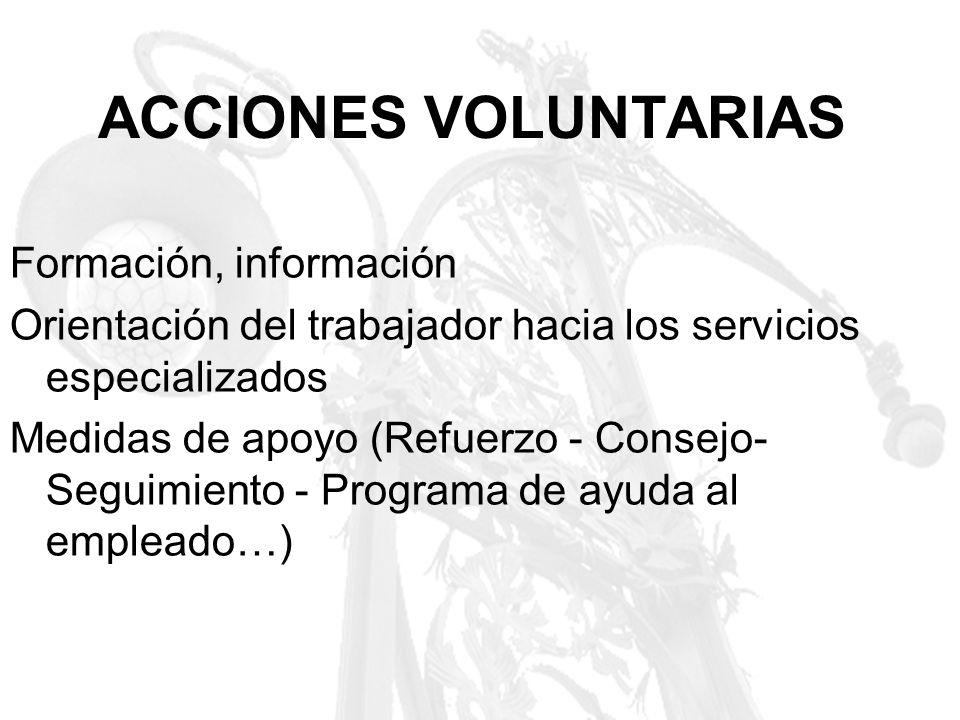 ACCIONES VOLUNTARIAS Formación, información