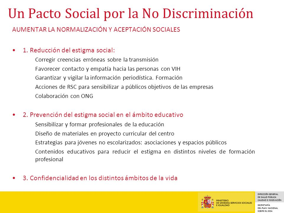 Un Pacto Social por la No Discriminación