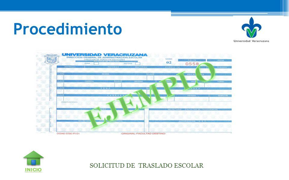 SOLICITUD DE TRASLADO ESCOLAR