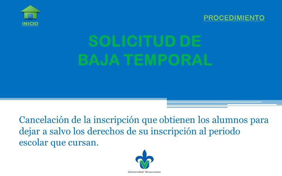 SOLICITUD DE BAJA TEMPORAL