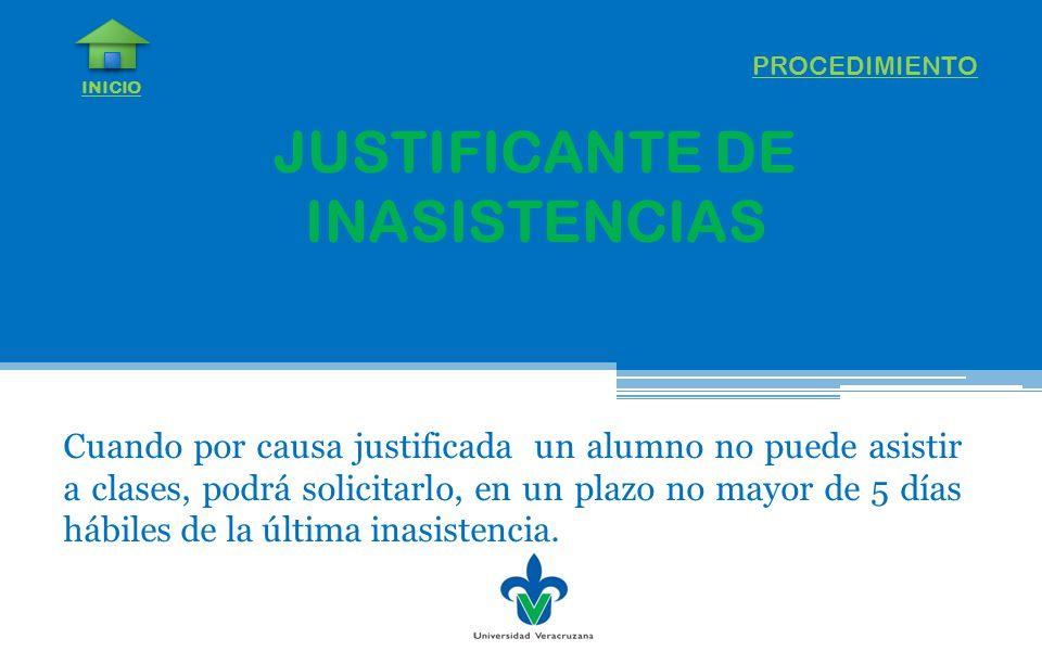 JUSTIFICANTE DE INASISTENCIAS
