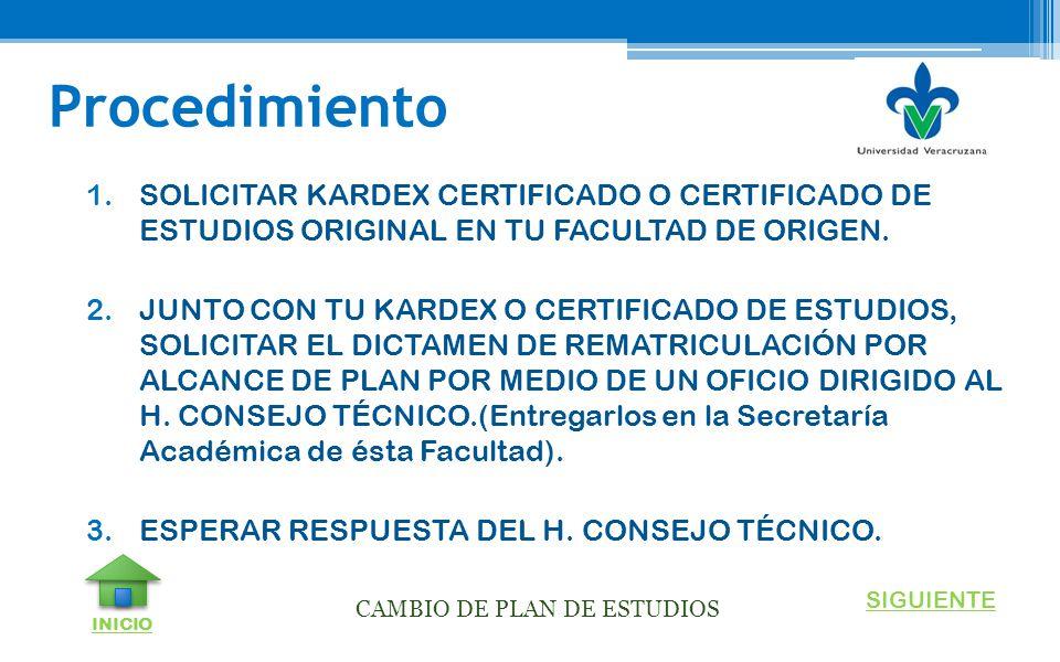 CAMBIO DE PLAN DE ESTUDIOS