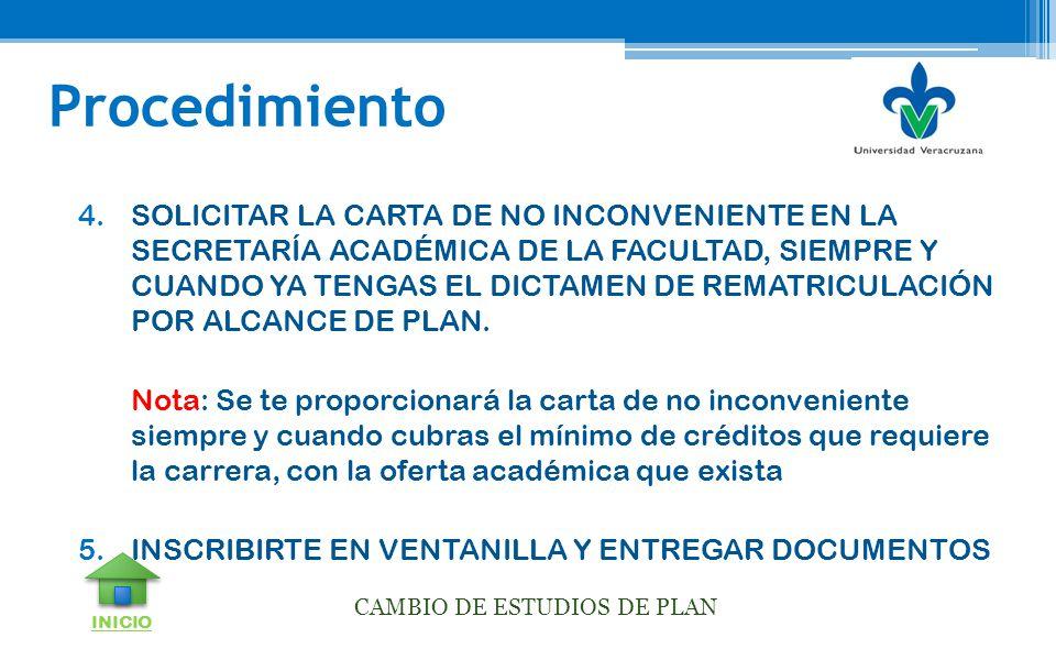 CAMBIO DE ESTUDIOS DE PLAN