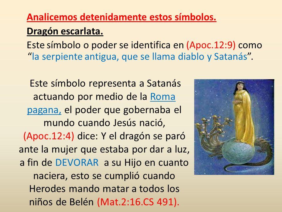 Analicemos detenidamente estos símbolos. Dragón escarlata