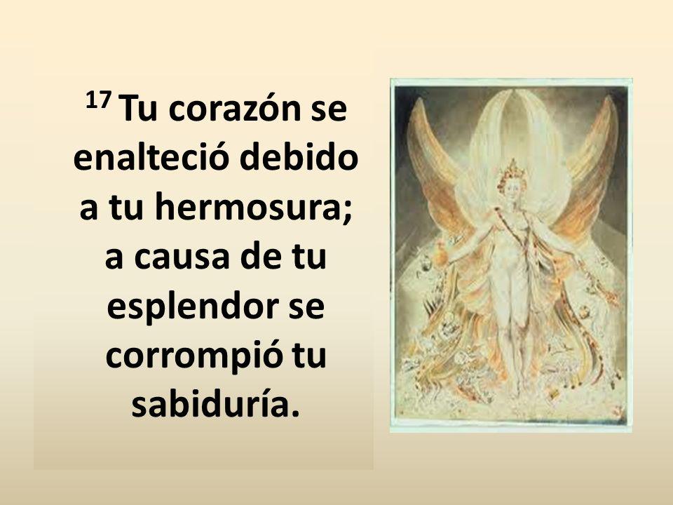 17 Tu corazón se enalteció debido a tu hermosura; a causa de tu esplendor se corrompió tu sabiduría.