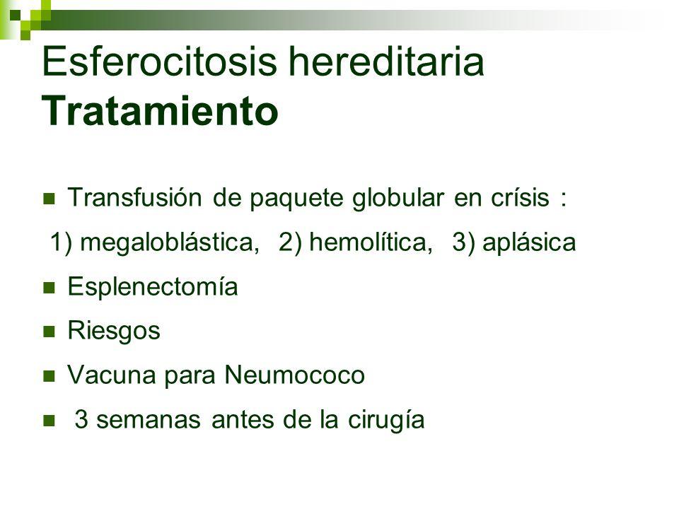Esferocitosis hereditaria Tratamiento