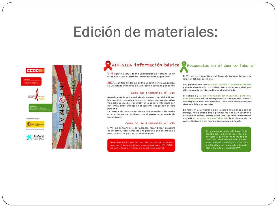 Edición de materiales: