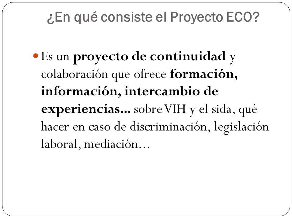 ¿En qué consiste el Proyecto ECO