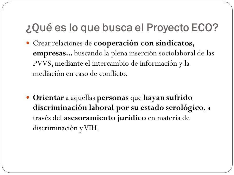 ¿Qué es lo que busca el Proyecto ECO