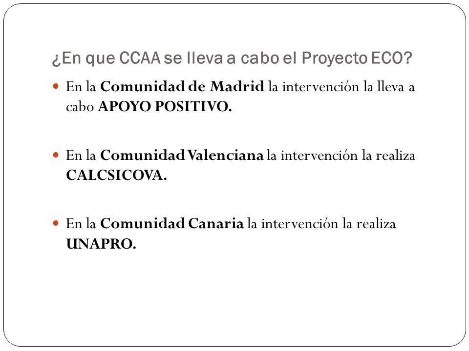¿En que CCAA se lleva a cabo el Proyecto ECO