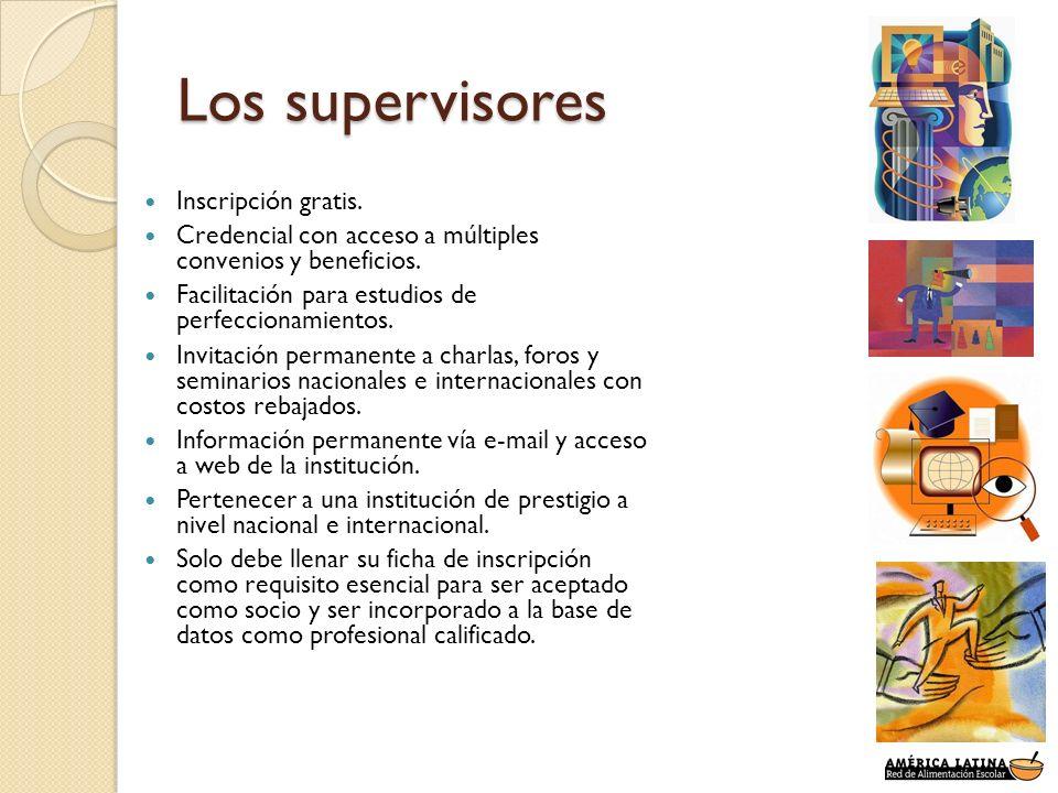 Los supervisores Inscripción gratis.