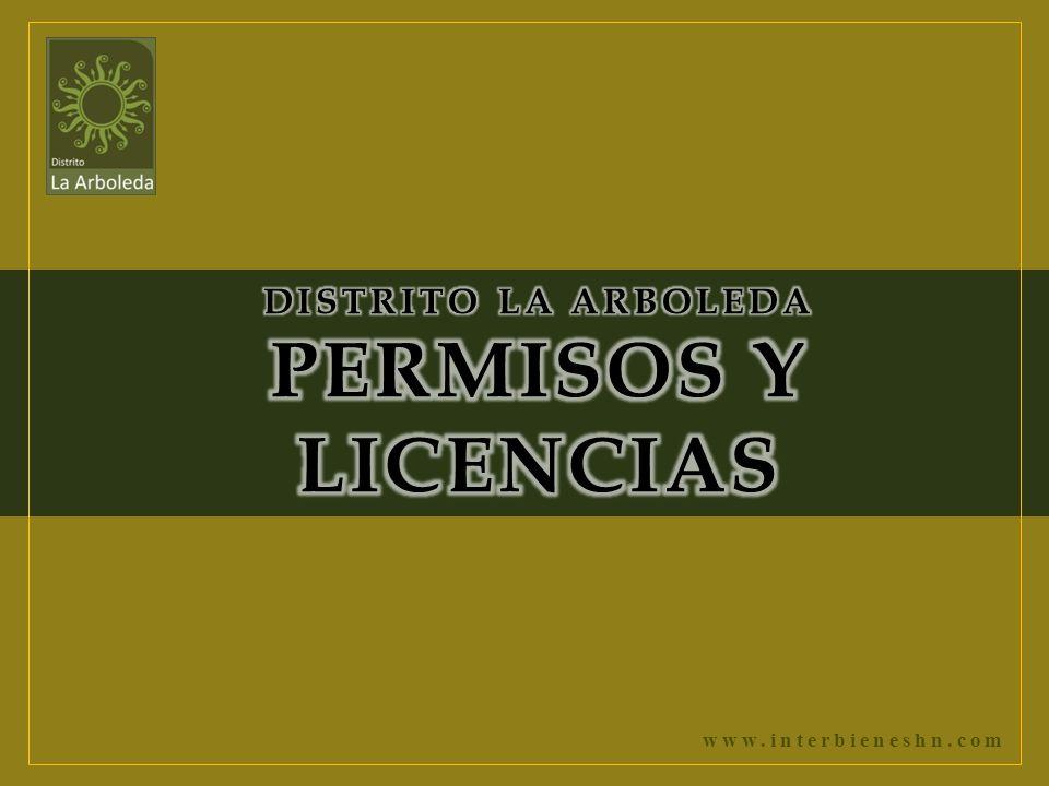 DISTRITO LA ARBOLEDA PERMISOS Y LICENCIAS
