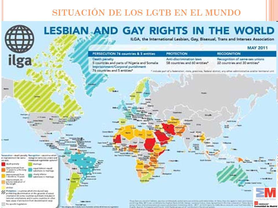 SITUACIÓN DE LOS LGTB EN EL MUNDO
