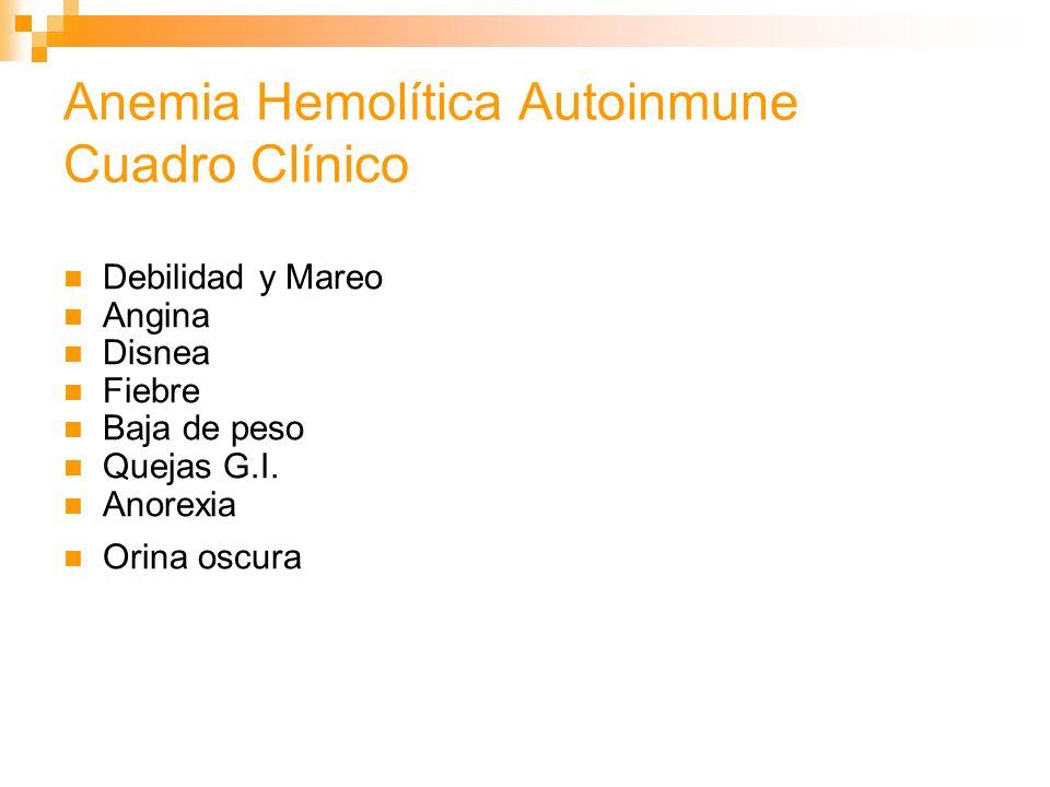 Anemia Hemolítica Autoinmune Cuadro Clínico