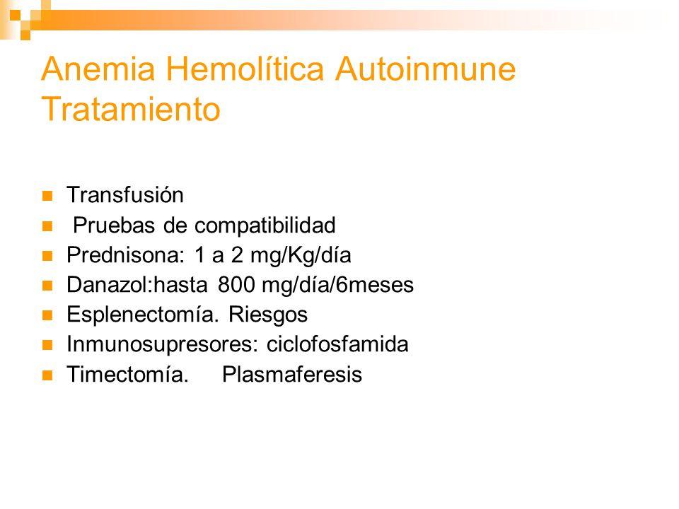 Anemia Hemolítica Autoinmune Tratamiento