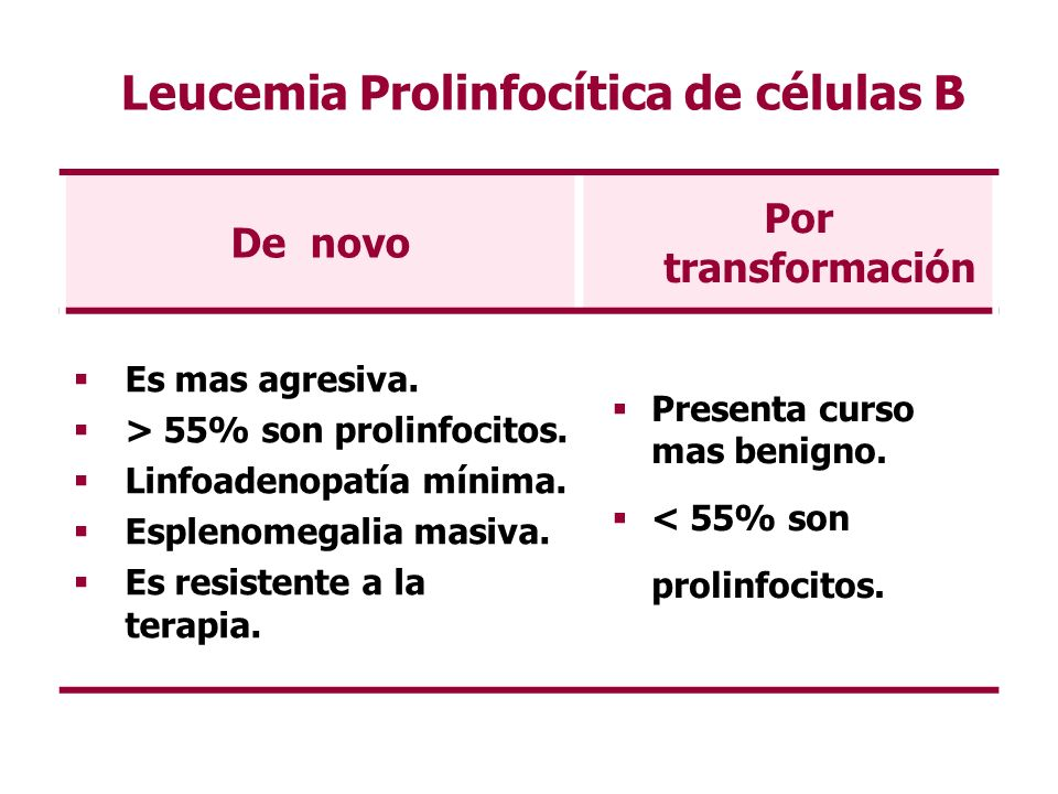 Leucemia Prolinfocítica de células B