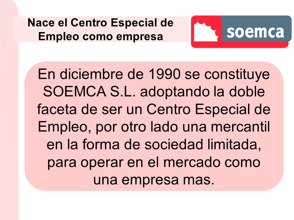 Nace el Centro Especial de Empleo como empresa