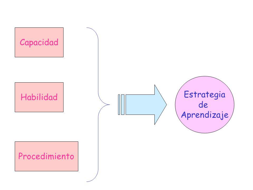 Capacidad Estrategia de Aprendizaje Habilidad Procedimiento