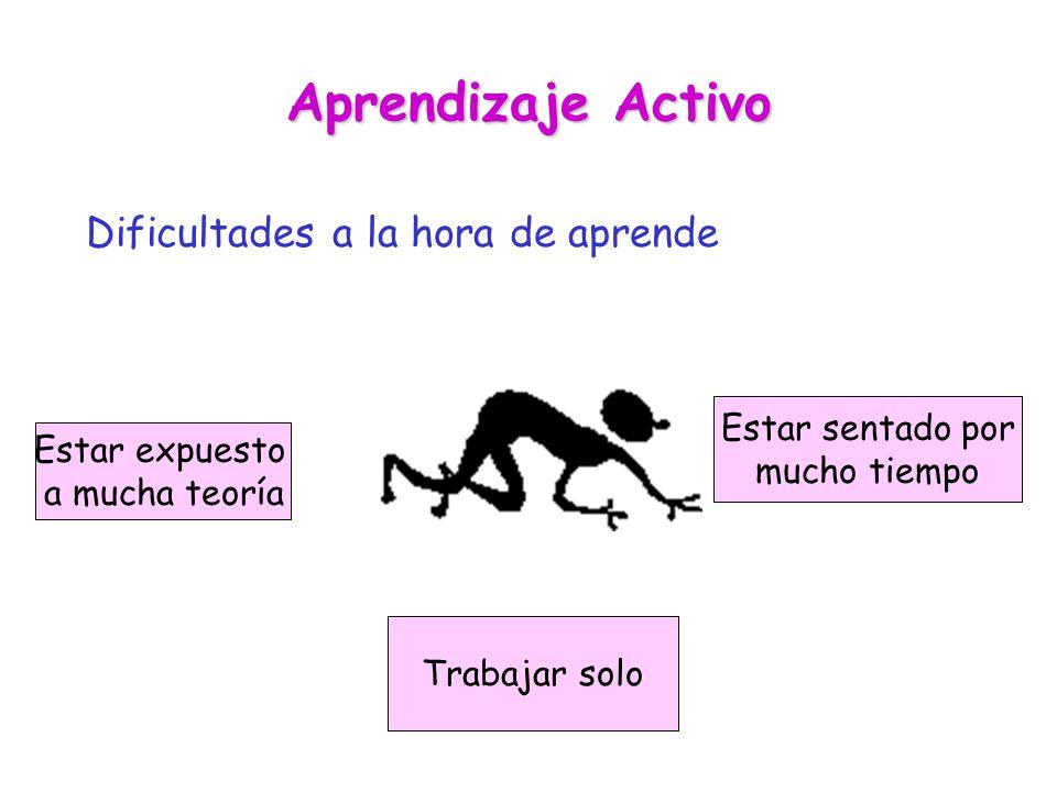 Aprendizaje Activo Dificultades a la hora de aprende Estar sentado por