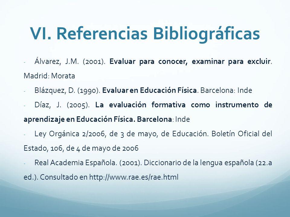 VI. Referencias Bibliográficas