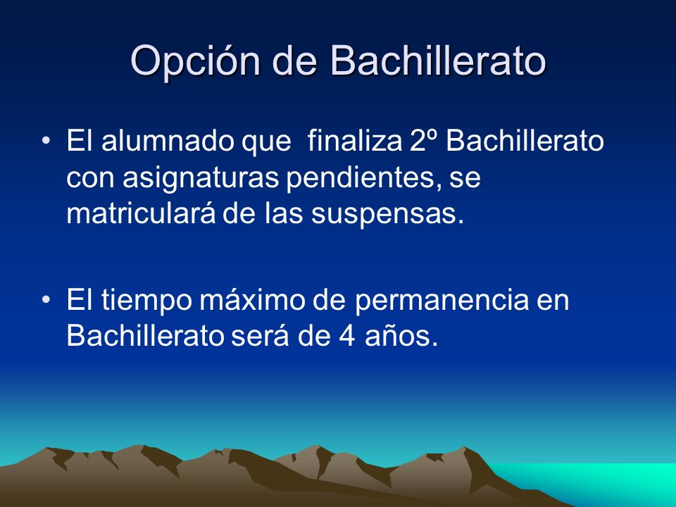 Opción de Bachillerato
