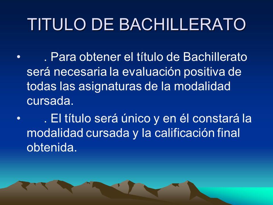 TITULO DE BACHILLERATO