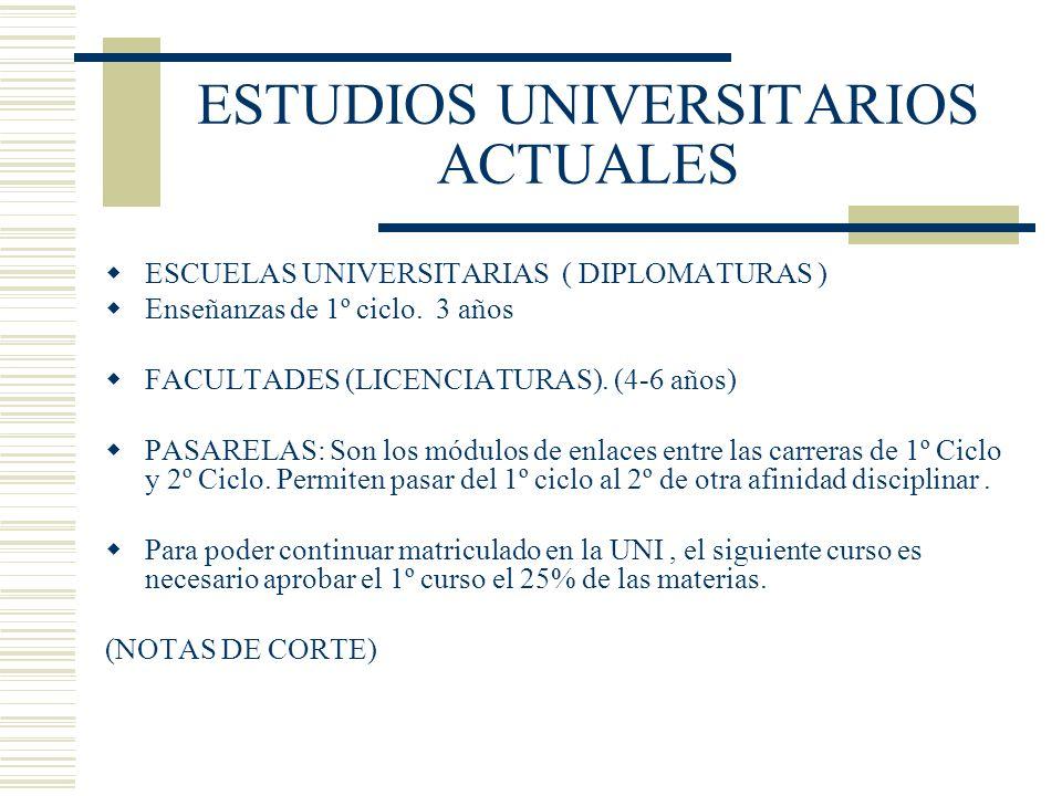 ESTUDIOS UNIVERSITARIOS ACTUALES