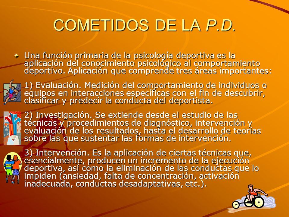COMETIDOS DE LA P.D.