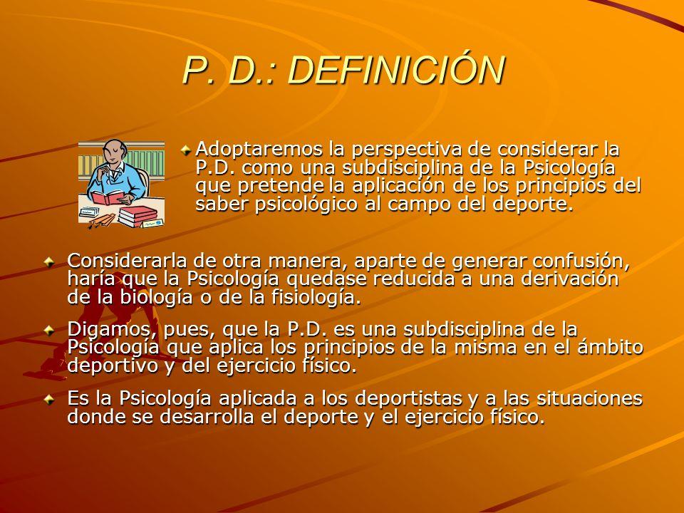 P. D.: DEFINICIÓN