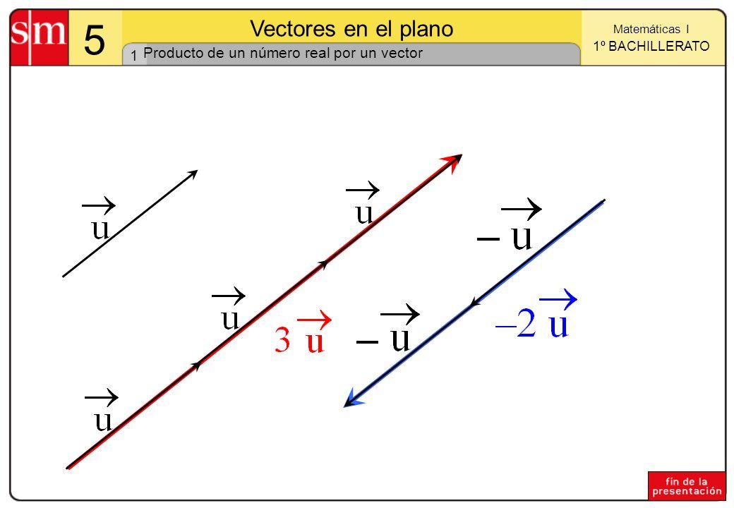 Producto de un número real por un vector