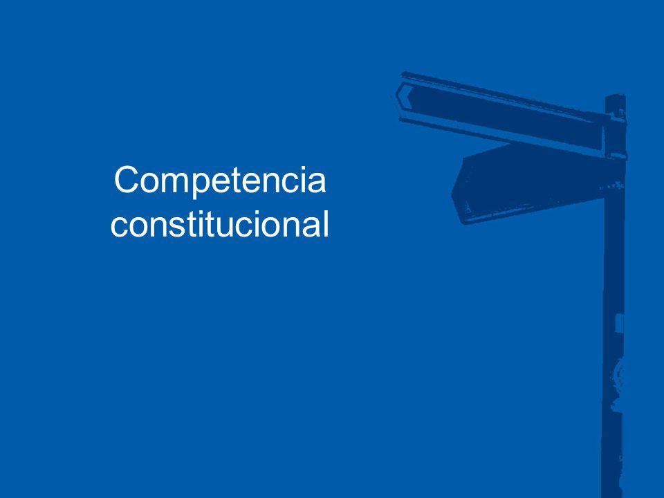 Competencia constitucional