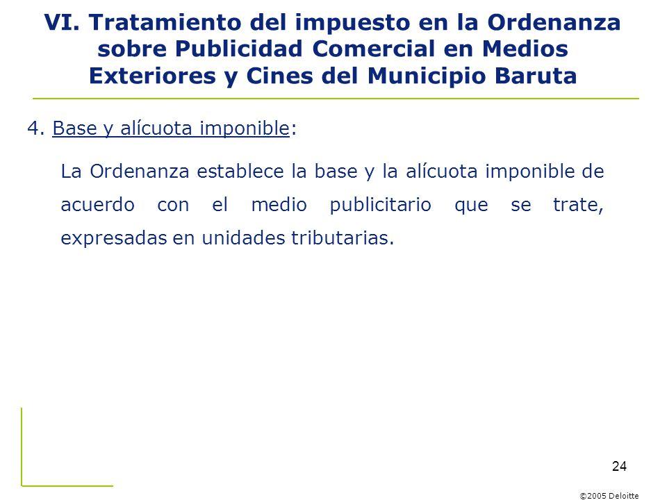 VI. Tratamiento del impuesto en la Ordenanza sobre Publicidad Comercial en Medios Exteriores y Cines del Municipio Baruta