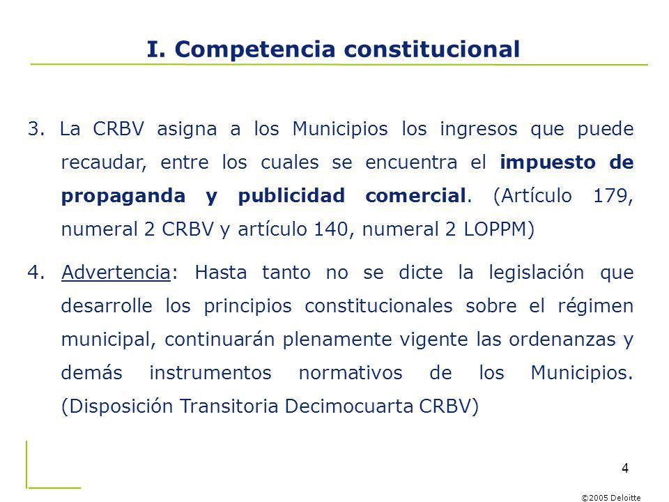 I. Competencia constitucional