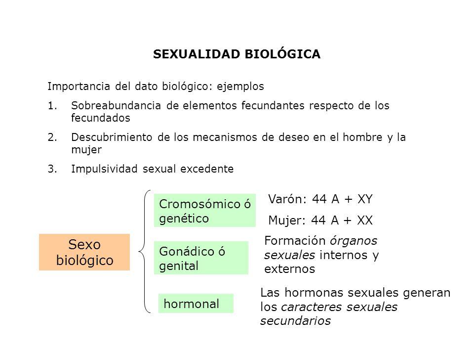 Sexo biológico SEXUALIDAD BIOLÓGICA Varón: 44 A + XY