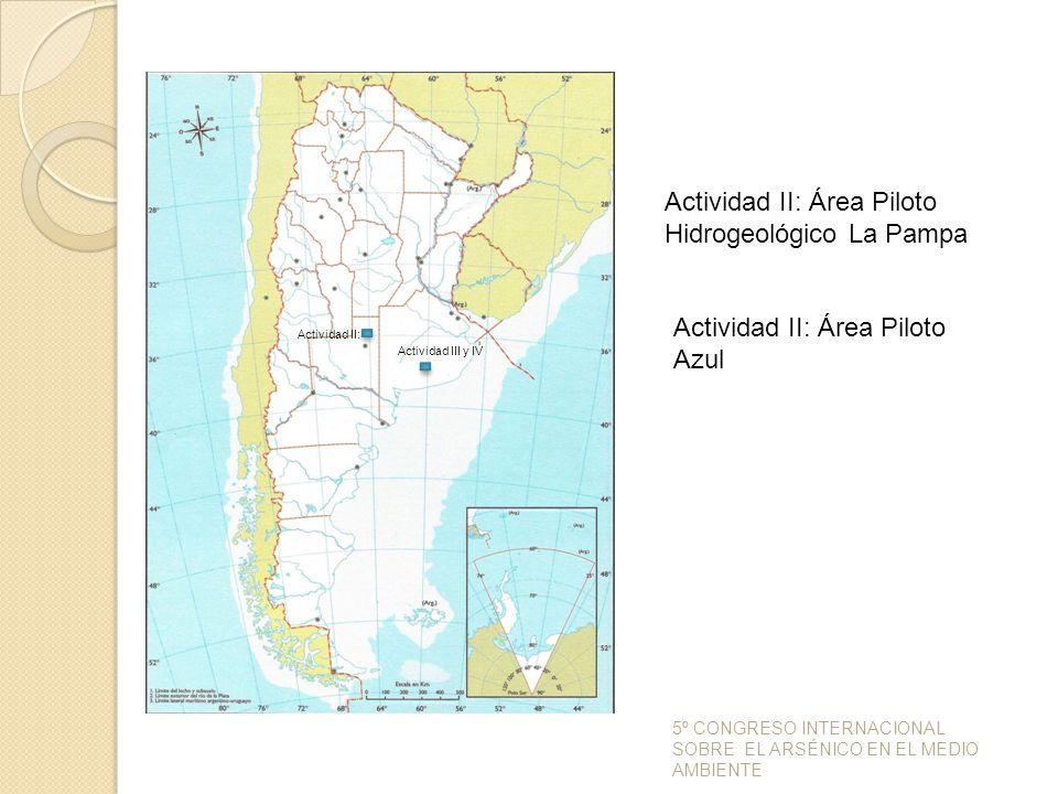 Actividad II: Área Piloto Hidrogeológico La Pampa