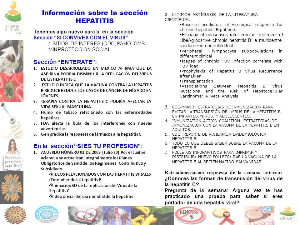 Información sobre la sección
