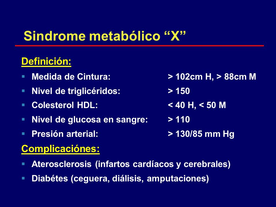 Sindrome metabólico X