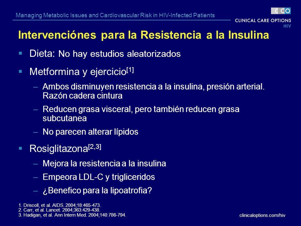 Intervenciónes para la Resistencia a la Insulina