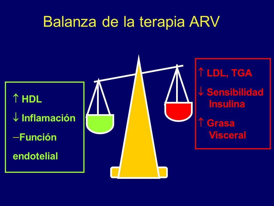 Balanza de la terapia ARV