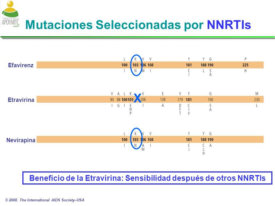 Mutaciones Seleccionadas por NNRTIs