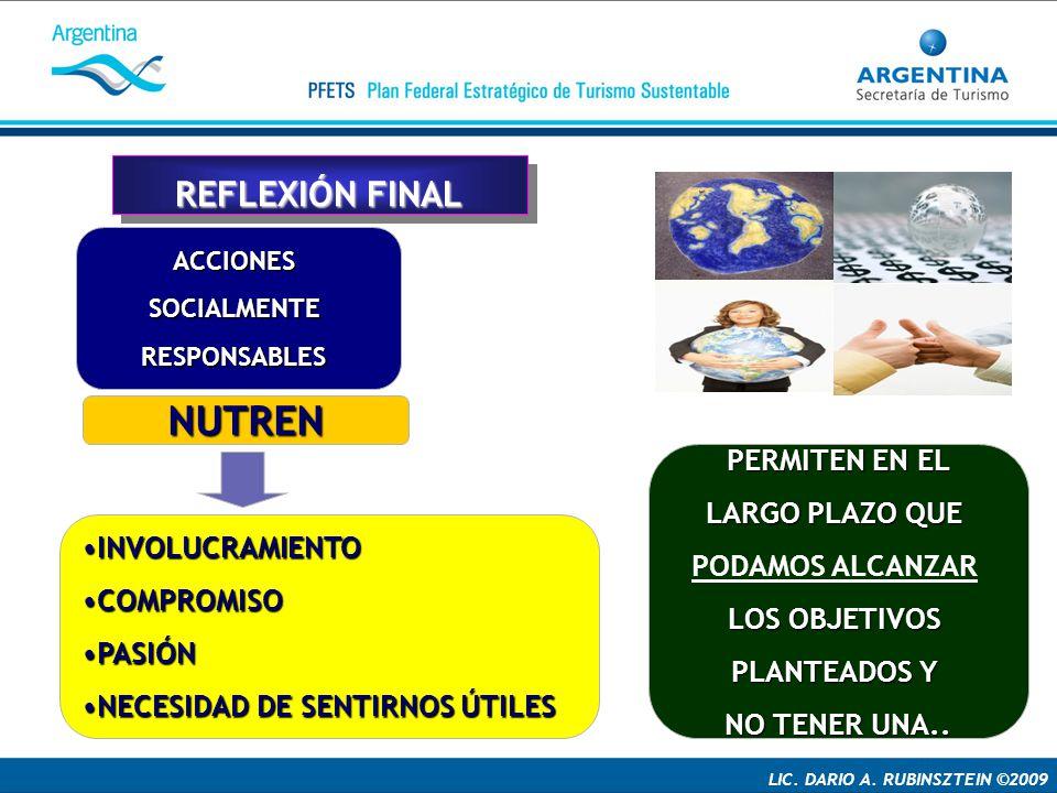 NUTREN REFLEXIÓN FINAL PERMITEN EN EL LARGO PLAZO QUE PODAMOS ALCANZAR