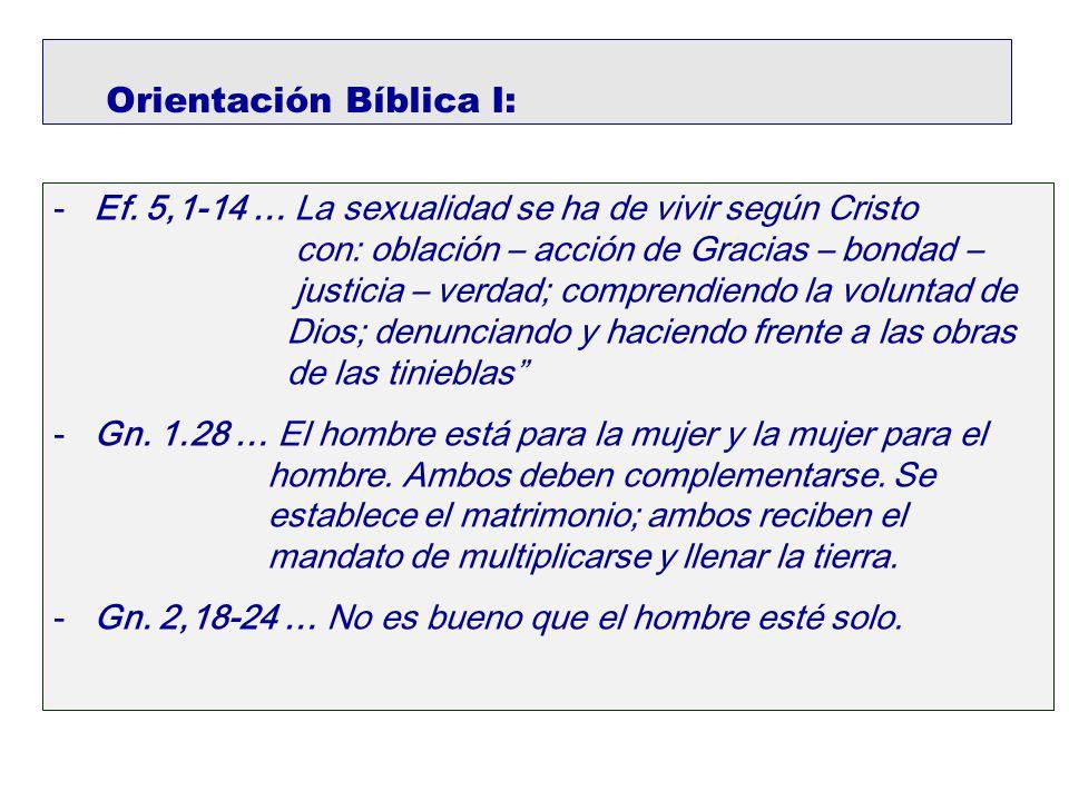 Orientación Bíblica I: