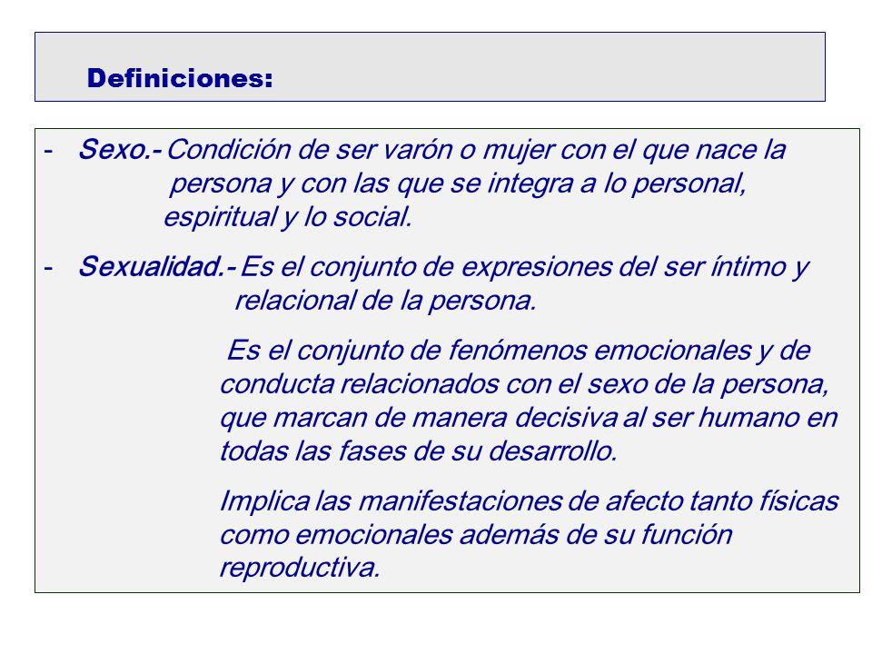 Definiciones: