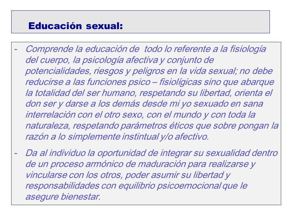 Educación sexual: