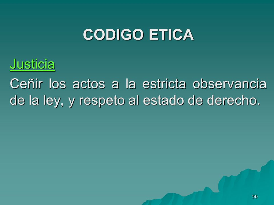 CODIGO ETICA Justicia.
