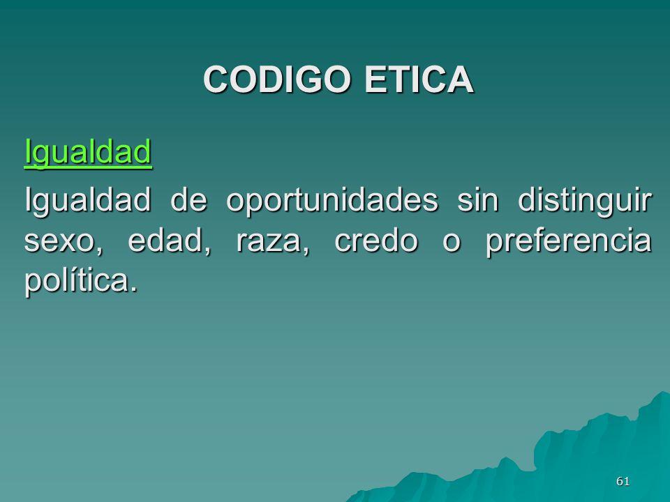 CODIGO ETICA Igualdad.