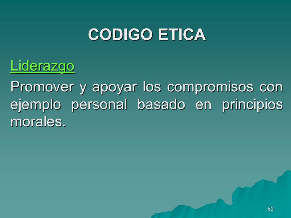 CODIGO ETICA Liderazgo