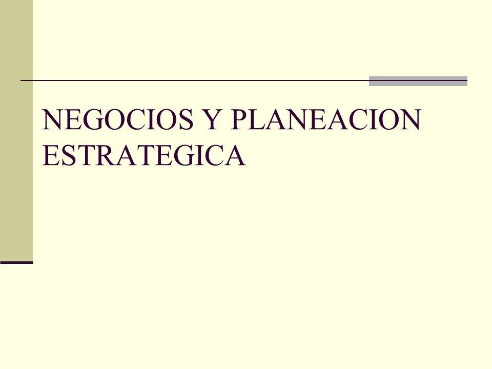 NEGOCIOS Y PLANEACION ESTRATEGICA