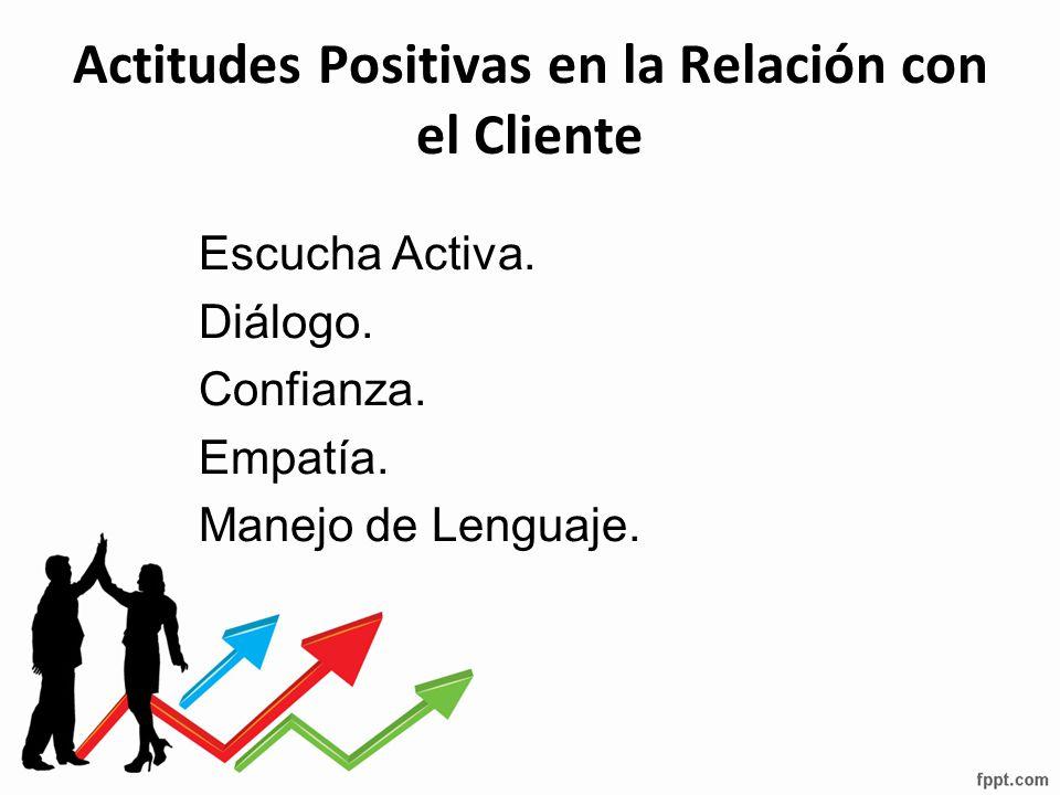 Actitudes Positivas en la Relación con el Cliente