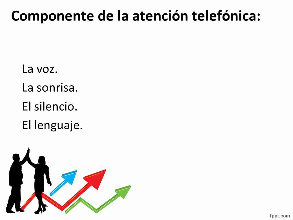 Componente de la atención telefónica: